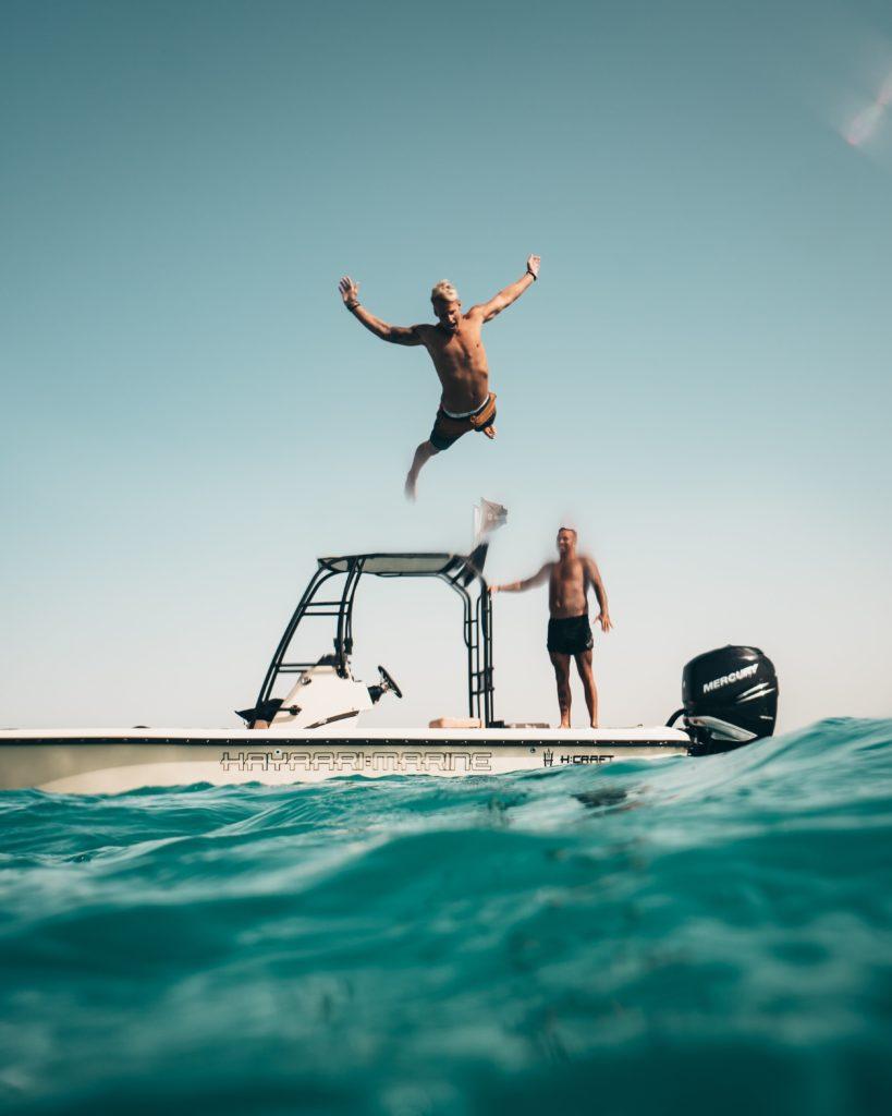 het grootste plezier op een bootfeest